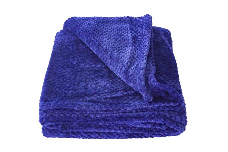 Κουβέρτα Coral Fleece Μπλε Σκούρο