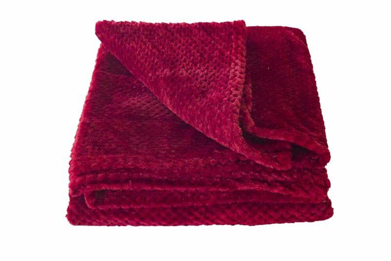 Κουβέρτα Coral Fleece Μπορντώ