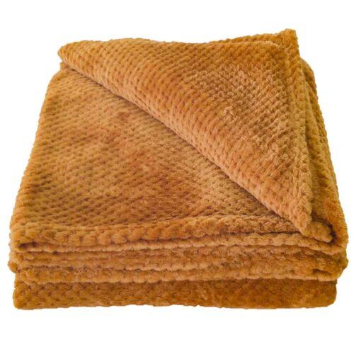 Κουβέρτα Coral Fleece Καμηλό