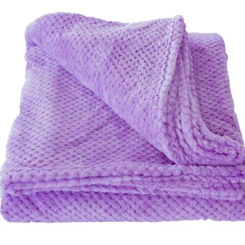 Κουβέρτα Coral Fleece Λιλά