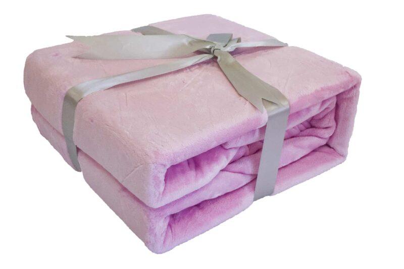 Κουβέρτα Super Soft Ροζ