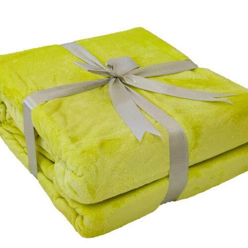 Κουβέρτα Super Soft Λαχανί