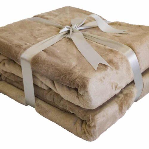 Κουβέρτα Super Soft Μπεζ