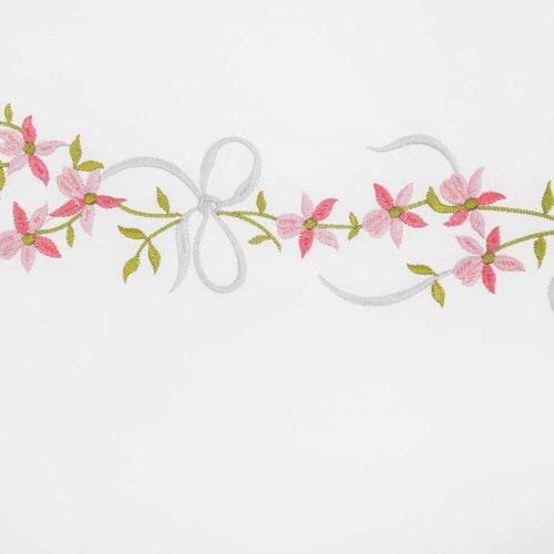 Μαξιλαροθήκες κέντημα γιασεμί ροζ 1