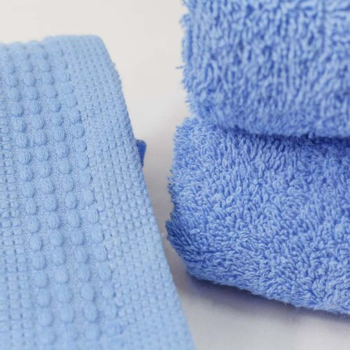 Πετσέτες πεννιέ γαλάζιο