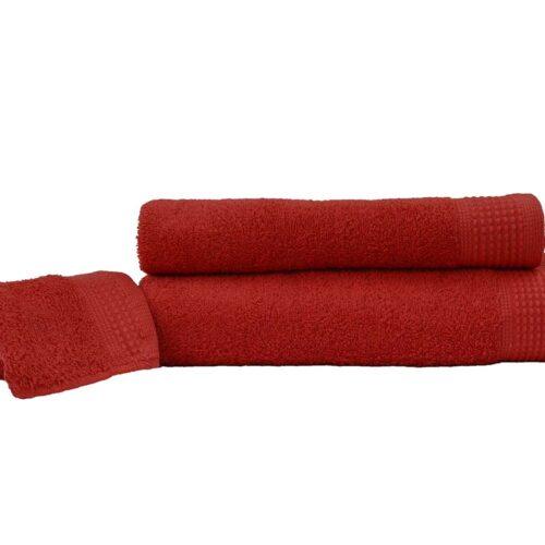 Πετσέτες πεννιέ κόκκινο
