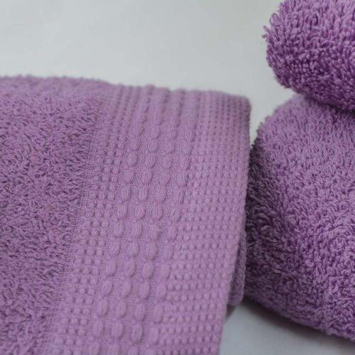 Πετσέτες πεννιέ λιλά