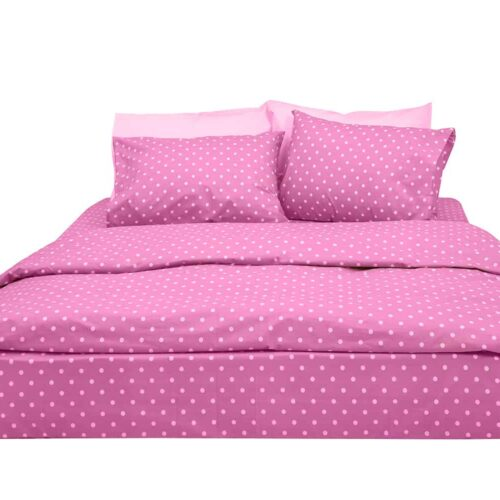 Σεντόνια πουά ροζ