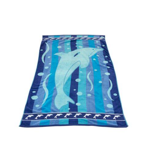 Πετσέτα θαλάσσης δελφίνι μπλε