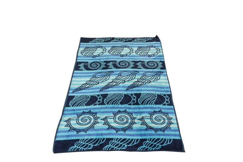 Πετσέτα θαλάσσης κοχύλι μπλε