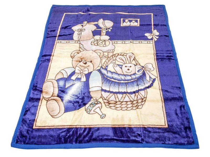 Κουβέρτα κούνιας βελουτέ αρκουδάκι