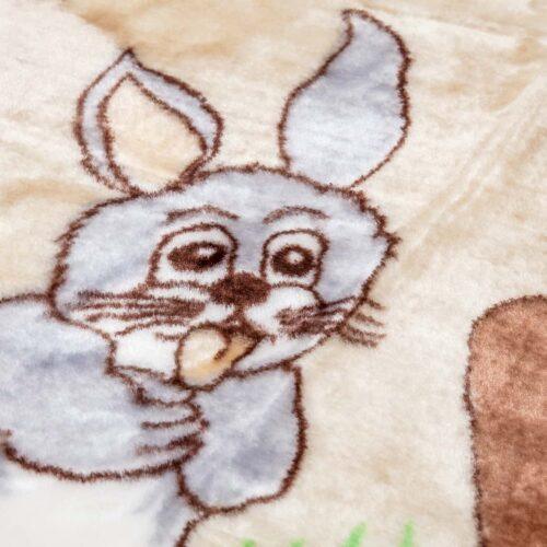 Κουβέρτα κούνιας βελουτέ ελαφάκι1