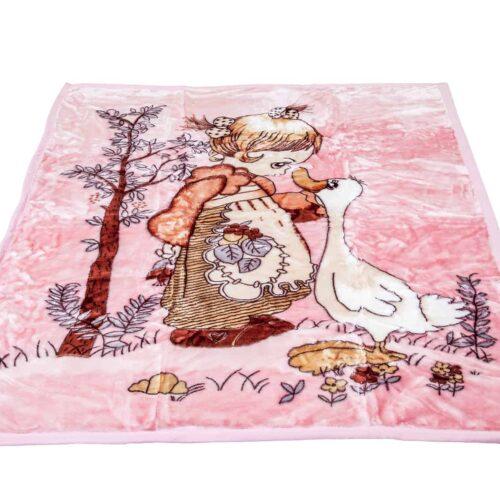 Κουβέρτα κούνιας βελουτέ χήνα
