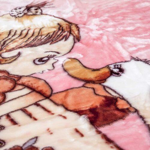 Κουβέρτα κούνιας βελουτέ χήνα1