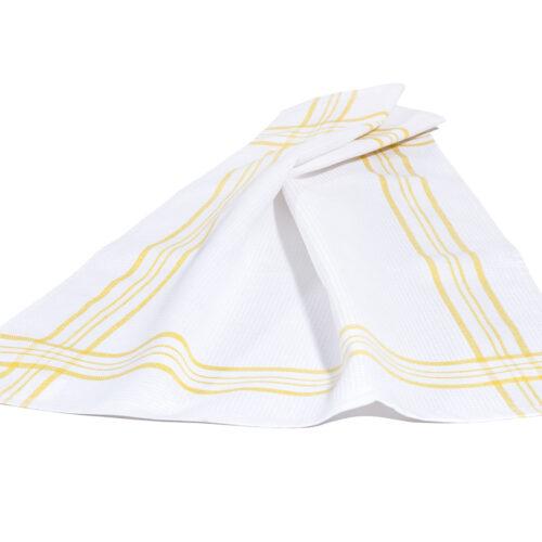 Πετσέτα κουζίνας ρίγα κίτρινο