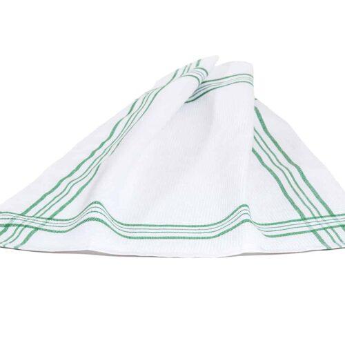 Πετσέτα κουζίνας ρίγα πράσινο
