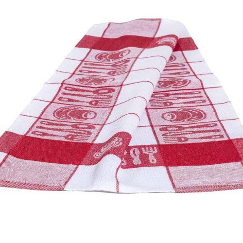 Πετσέτα κουζίνας τσαγερό κόκκινο